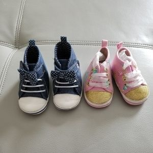 Other - LOT OF 2 BABY GIRL SHOES 6-12M